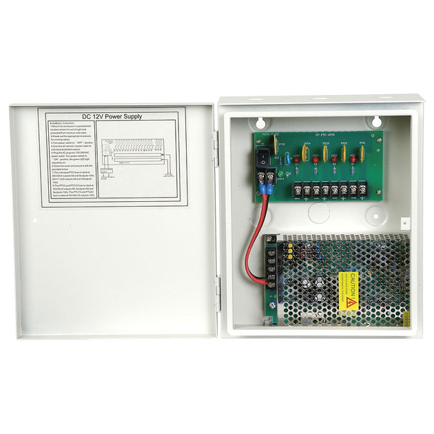 DC 12V/5A, 4 x 2A Power Supply 1