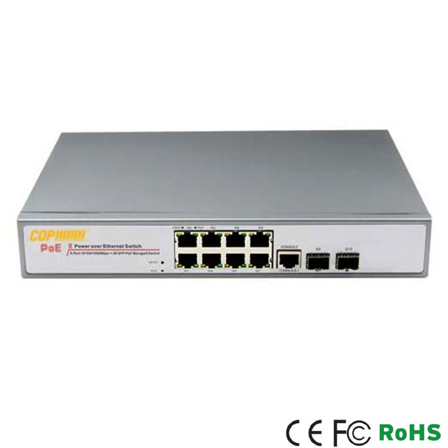 8 Ports GE PoE / 2 ports GE SFP L2+ Managed Switch 1